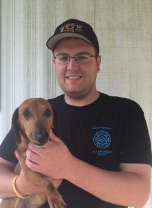 fire safety pic Thomas Slater Jr. and Oscar